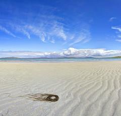 Made to disappear (pauldunn52) Tags: clachan sands harris sand ripples beach sea clouds sky environmental art creation jellyfish