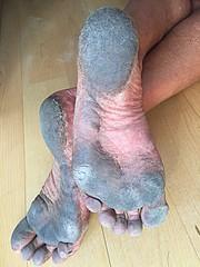 City black soles (danragh) Tags: barefoot dirty piedicallosi piedisporchi blacksoles