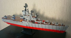 Man (Lego shipyard) Tags: lego ship cruiser carrier helicopter лего крейсер вертолетоносец москва ленинград кондор