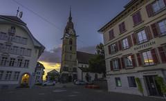 Zofingen Sunsets. (Phil Maddison) Tags: zofingen switzerland swiss sunset canon es 40d efs1022mm evening setting sun stadtkirche church