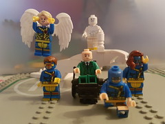 uncanny originals (nathanbeer) Tags: xmen legomoc angel cyclops beast profx marvelgirl iceman