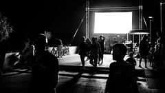 Summer night - Lignano Sabbiadoro, Italy - Black and white street photography (Giuseppe Milo (www.pixael.com)) Tags: lignanosabbiadoro friuliveneziagiulia italy it color faceless italia leading lighthouse lignano lines orange path pier sabbiadoro shadows streetphotography sunrise sunstar walking woman onsale