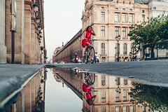 Paris street photography (Carlos Pinho Photography) Tags: paris street streetphotography eiffeltower eiffel reflection bike rivoli