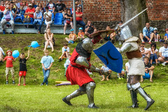 Knights tournament (Sagittarius_photography) Tags: poland castle fight knight medieval shields swords tournament uniejow