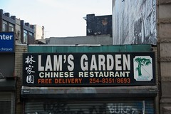 "A shot of ""Lam's Garden"" Chinese restaurant  on Lafayette Street during Summer Streets. (jackszwergoldarchives) Tags: manhattan newyorkcity summerstreets szwergold"