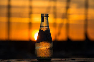 Sunset in a bottle