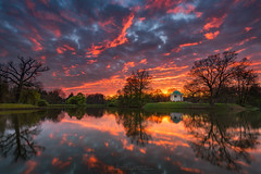 mirrored (Alexander Lauterbach Photography) Tags: kassel hessen deutschland germany nordhessen aue karlsaue tempel sonnenuntergang sunset mirrored see lake nature sony a7r a7rii