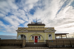 Skies Surround Us (Keith Midson) Tags: stkilda melbourne kiosk pier building architecture samyang 14mm sky cloud clouds