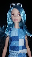Blue (Just a Nobody) Tags: barbie fashionistas 2017 blue salmon pink hair miko