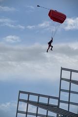 NDP 2017 NE2  Red Lions parachuting down (gintks) Tags: gintks gintaygintks singapore singaporetourismboard marinabaysands marinabay ndp2017 nationaldayparade2017 yoursingapore exploresingapore marinabaysingapore onenationtogether ndp17 sg52 redlion