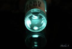 "Macro Mondays ""Bottoms Up"" (Max pics3) Tags: macromondays makro macro macromonday nahaufnahme closeshot closeup bottom boden bottle flasche blau blue drink getränk beer bier canon canoneos6d eos eos6d digital tamron"