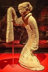 Figurine of a female dancer Xuzhou Jiangsu Western Han period 206 BCE - 9 CE Earthenware (mharrsch) Tags: dancer female woman figurine statue earthenware westernhan tomb burial funerary tombtreasures exhibit asianartmuseum sanfrancisco california mharrsch china