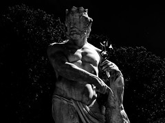 Garden Schloss Nymphenburg, Munich (Miranda Ruiter) Tags: blackandwhite photography statue sculpture schloss castle nymphenburg garden art germany munich