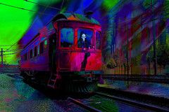 El tren fantasma. 35594156021_b33de6e3e9_oT5 (seguicollar) Tags: imagencreativa photomanipulación art arte artecreativo artedigital virginiaseguí computerdesign digitalart digitaldesingn digitalabstractsurreal photomanipulation photoartwork manipulatedimages tranvía vías fantasma clavera estación