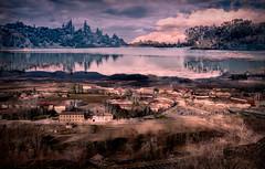 Double exposure landscape