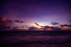 purple up new day (mariola aga) Tags: puntacana dominicanrepublic atlanticocean dawn morning sunrise sky clouds sun light glow ocean water shoreline beach waves tides newday wideangle