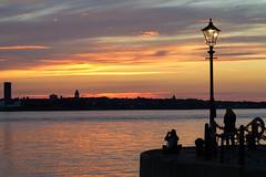 Liverpool (tweedy35) Tags: europe england merseyside liverpool city sunset sky water rivermersey waterfront albertdock wallasey evening canong1x estuary sundown
