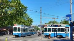 Trams Bellevueplatz (sander_sloots) Tags: zürich trams bellevueplatz zwitserland switzerland tram2000 tramway city vbz verkehrsbetriebe
