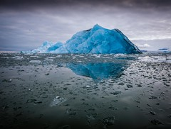 Blue Ice (Chris Willis 10) Tags: spitbergenwedding iceberg blue arctic icebergiceformation glacier ice snow coldtemperature frozen water landscape sea scenics icefloe melting