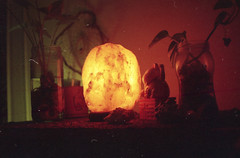 junio/julio (☾arimelo) Tags: film 35mm rokkor28mm minoltasrt101 analogue home cotidiano agfa200 night fuego fire lampara salhimalaya orange filmphotographyç