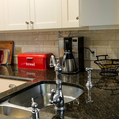 ODC - Pop of Color (lclower19) Tags: hdr breadbox red kitchen coffeemaker sink odc square