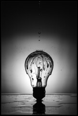 A Splash Of Light (WibbleFishBanana) Tags: lamp light bulb water liquid fluid splash