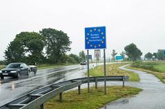 Sæd Grænse (blokkadeleider) Tags: schleswigholstein deutschland duitsland germany sædgrænse sæd bordercrossing grensovergang grenzübergang danmark denmark dänemark denemarken jylland jutland