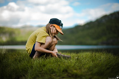 Nephew (Torjan Haaland) Tags: nephew sony a7s mitakon 50mm f005 f095 bokeh dreamy nature water mountain femount fullframe ff mirrorless camera photography lake freshwater grønlivatnet clouds sky blue green natur ute outside outdoor friluftsliv