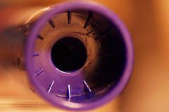 Bottoms Up - Macro Mondays (kinaaction) Tags: macromondays bottomsup macro sonyilce6000 gluestick bokeh violet purple