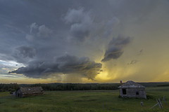 The Mothership (Len Langevin) Tags: storm supercell thunderstorm hail weather wx extreme alberta canada prairie abandoned old buildings weatheredwood nikon d7100 tokina 1116