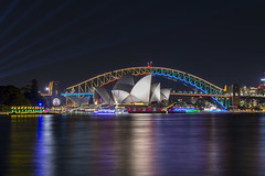 vivid sydney (Greg Rohan) Tags: nightlights nightphotography sydneyoperahouse operahouse harbourbridge vividsydney d7200 2017 night photography lights light colour bridge water ocean sea lighting vivid sydney