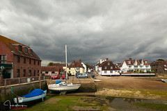 Clouds Approaching..... (inkslinger15) Tags: emsworth southcoast westsussex boats lowtide clouds slipway reflection sky harbour moored