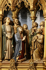 Our Lady in the Cenacle (Lawrence OP) Tags: biblical pentecost blessedvirginmary ourlady apostles sculpture reredos ladychapel national cathedral washingtondc