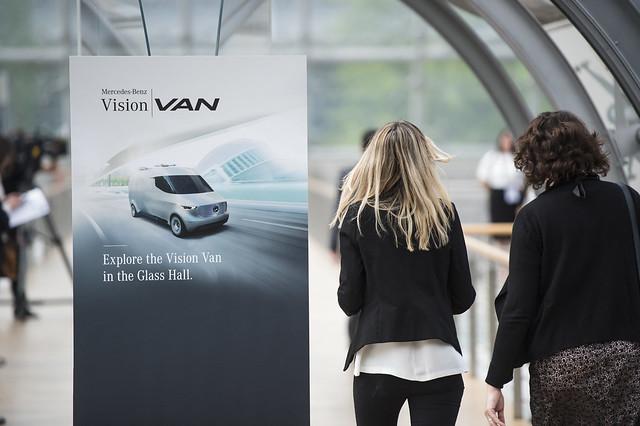 Mercedes-Benz vision van demonstration