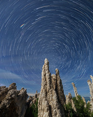 Moonlit Tufa Star Trails (Jeffrey Sullivan) Tags: photography workshop easternsierra monocounty leevining california wildflowers sunset landscape nature night travel star trails photo copyright 2017 june jeff sullivan canon eos 6d mono lake committee seminar