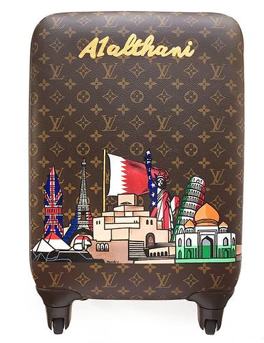 Bespoke Louis Vuitton skyline suitcase