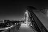 Frankfurter Ostend (stephancronjäger) Tags: ostend mainhatten downtown bridge brücke nightlife nachtleben skyscape skyline schwarzweis blackandwhite landschaft landscape travel main frankfurt