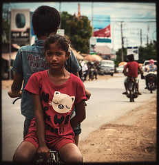 Ridin' in Kampong Cham (Julien Cha.) Tags: kampongcham cambodia khmer byking byke riding streetphotgraphy