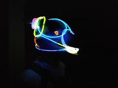 Sabre's Glowstick Muzzle (sabredragonfa) Tags: fur eh fureh 2017 feh2017 fe2017 con furcon furry convention sabre dragon sabredragon dance glow stick glowstick muzzle gag muzzled gagged ball ballgag ballgagged