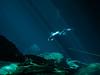 Follow the Sidemount Leader (altsaint) Tags: 714mm chacmool gf1 mexico panasonic cavern caverndiving cenote scuba underwater