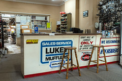 Geelong (Westographer) Tags: geelong victoria australia countrytown rural workplace mufflers signage typography counter stools salescounter oldschool office
