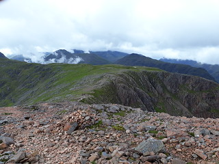 glencoe hills from stob dearg path