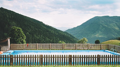 Swimming in the Alps! (edi_s) Tags: alps mountain water pool swimming hiking mountains wild austria dachstein nature alpinehut farmhouse schwimmbad wasser bergen wandern alpen österreich green grün blue blau fuji fujifilm xt2 23mmf14 23mm landscape