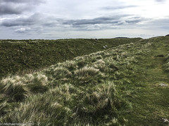 Walking to right of the Vallum. (mishlove1) Tags: britian cumbria england greatbritian hadrians hadrianswall hadrianswallwalk hike hikehiking hiking northofengland omdem10ii olympus travel uk vacation iphone