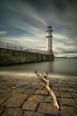 Newhaven (rgcxyz35) Tags: lighthouse scotland edinburgh pier water newhaven coast clouds longexposure harbour eastcoast