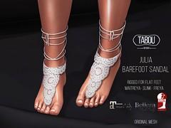 Julia barefeet sandal (ɢlαмѕ✪тαвoυ owɴer) Tags: tabou summer sommer barefoot project se7en sl