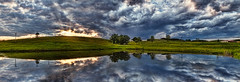 IMG_3681-86PRtzl1TBbLGER (ultravivid imaging) Tags: ultravividimaging ultra vivid imaging ultravivid colorful canon canon5dmk2 clouds sunsetclouds stormclouds scenic rural rainyday farm fields evening summer pennsylvania pa panoramic pond reflections water
