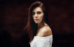 Anna (One_Penny) Tags: 135f2 bayern deutschland germany bavaria canon6d munich photography portrait woman münchen dark red brown hair eyes dress fashion bokeh dof girl