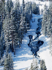 Lower Falls, Twin Lakes, Mammoth Lakes, CA 5-17 (inkknife_2000 (8 million views +)) Tags: mammothca springsnowstorm treeswithsnow sierranevadarange freshsnowonground waterfall usa landscape snow dgrahamphoto california newsnow morningsnow twinlakes crystalcrag forest iceonlake trees pines firs waterreflections doublefalls