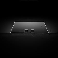 m e d i t a t i o n (*Jin Mikami*) Tags: bw architecture japan design black white square art monochrome dark surreal bnw minimalism photoshopped pentax fineart